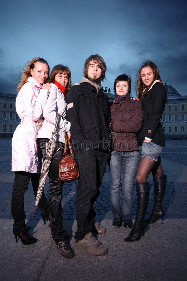 Jovens do grupo fotos de stock