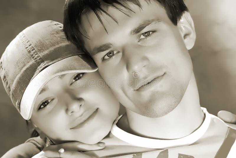 Jovens dos pares fotografia de stock