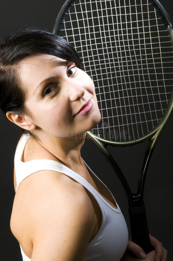 Jovens fêmeas 'sexy' do jogador de ténis fotografia de stock royalty free