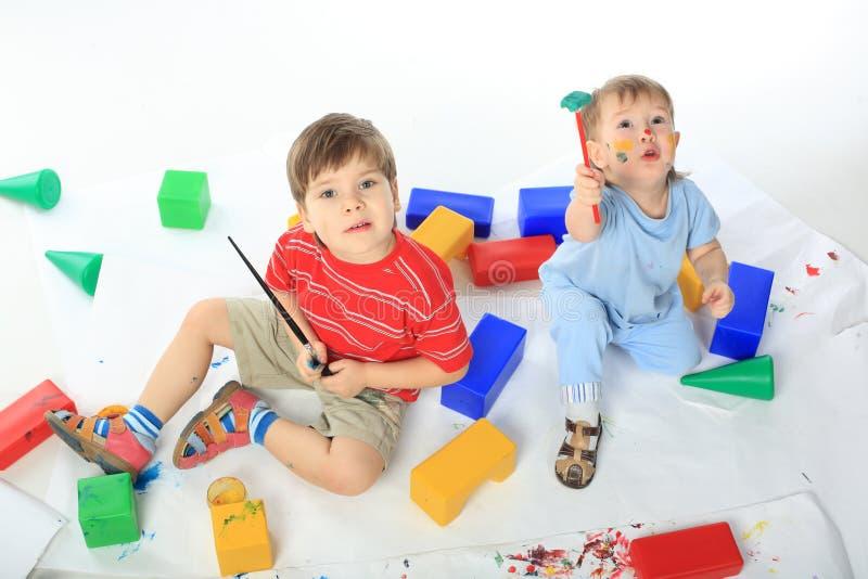 Jovial children stock photo
