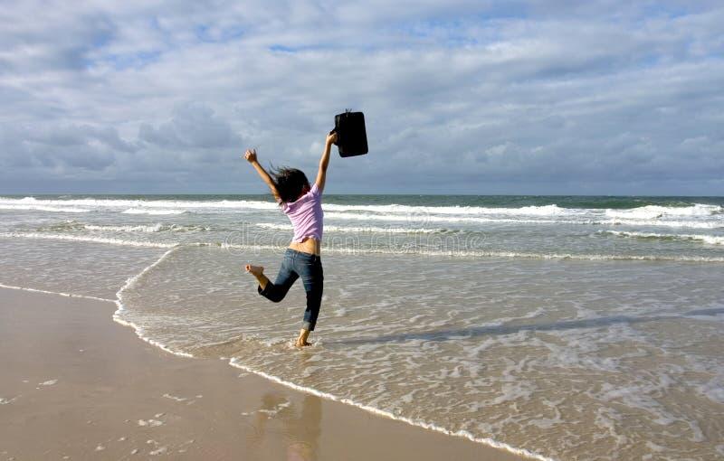 Joy!. Shot at Bribie Island royalty free stock photo
