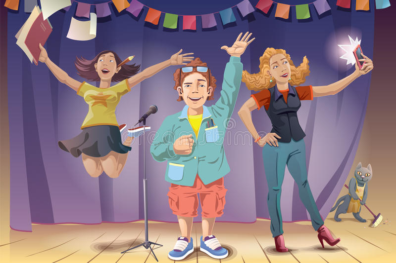 Joy of the Award Winning, Vector royalty free illustration