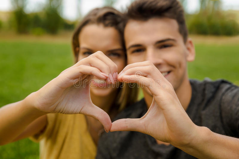 The joy of being in love stock photos