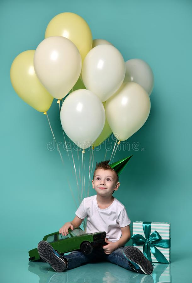 Joy of birthday royalty free stock photo