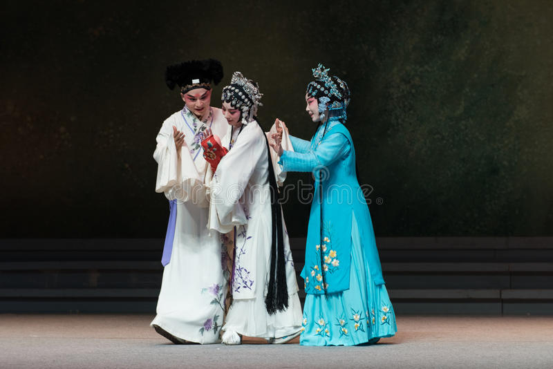 """The joy of childbirth-The eighth act getting a new born child-Kunqu Opera""""Madame White Snake"""". Legend of the White Snake is one of the most famous royalty free stock images"""