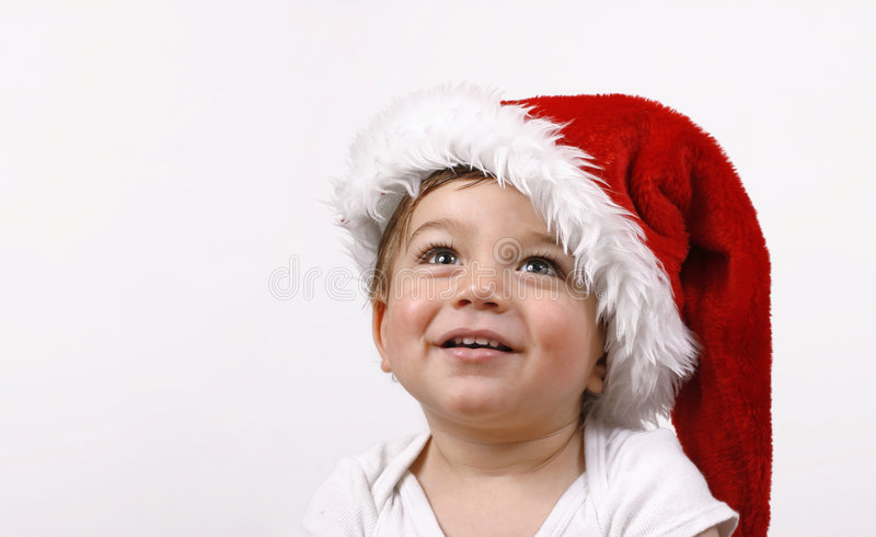 Joy of Christmas. Happy baby christmas stock image