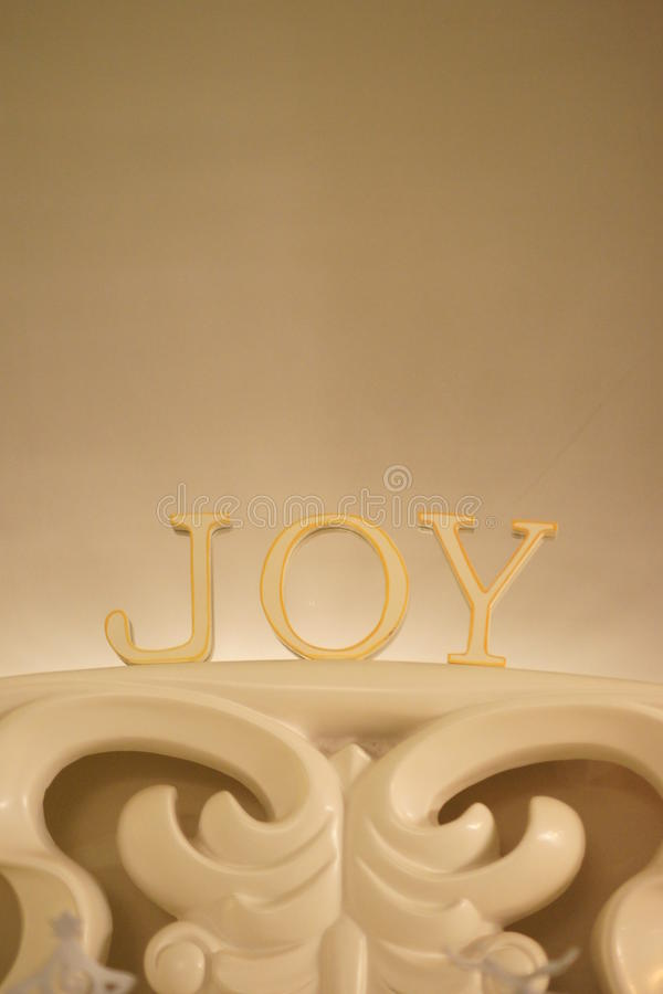 Joy Christmas Decoration royaltyfri fotografi