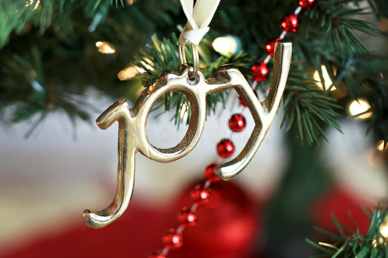 Joy Christmas Ornament royalty free stock photography