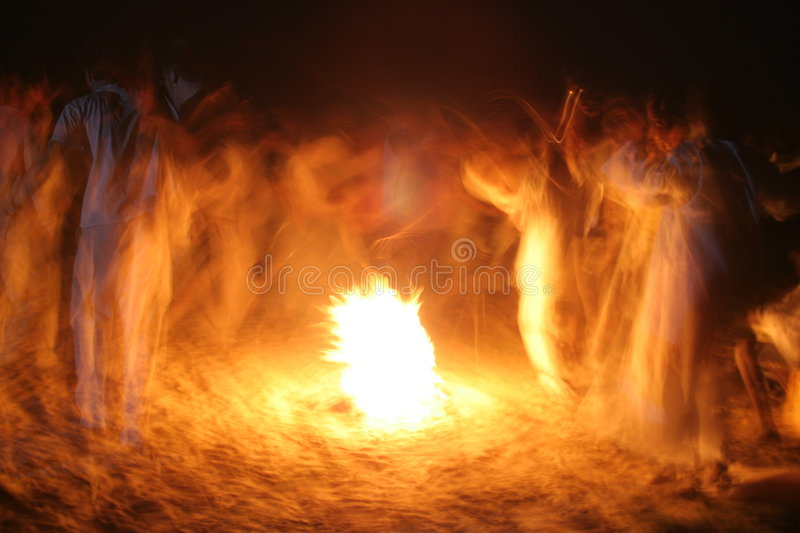 The Joy of Fire stock photography