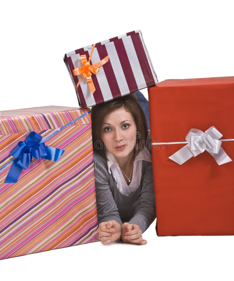 Download The joy of gifts stock image. Image of presents, funny - 7431767