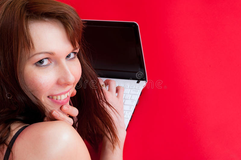 Download Joy on a laptop stock photo. Image of computer, girl - 29687870