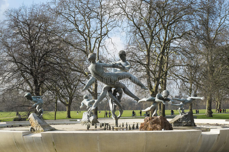 Joy of Life fountain, in Hyde Park royalty free stock photos