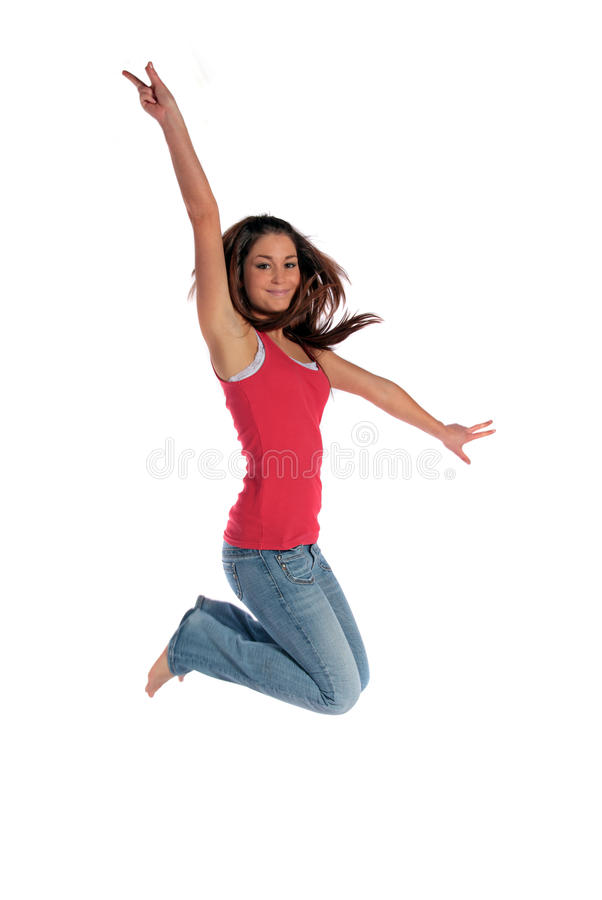 Download Joy of living stock photo. Image of jump, isolated, background - 13014030