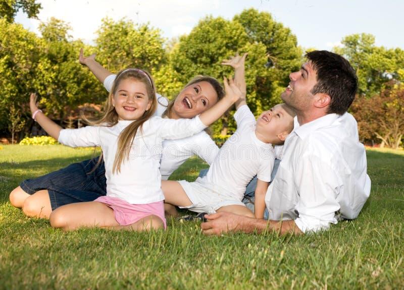 joy rodzinna obraz stock