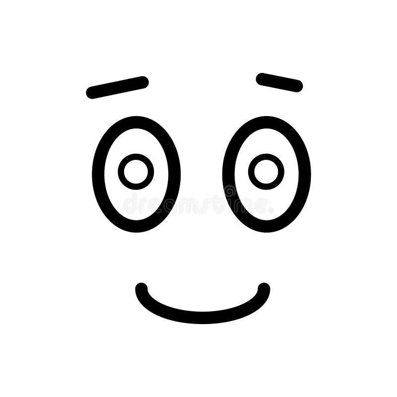 Joy Smiley icon vector. Line design isolated on white background. Eps 10 stock illustration