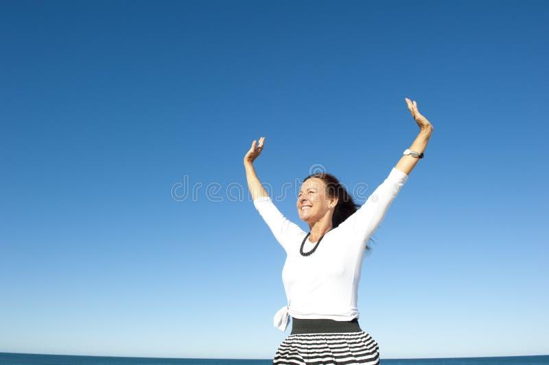 Joy Of Successful Woman Stock Photography