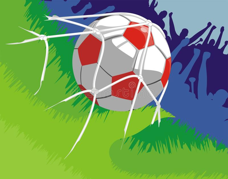 Download Joy to the goal scored stock vector. Image of background - 22823252