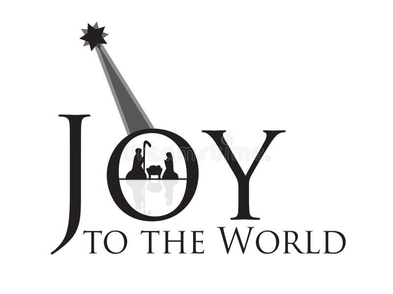 Joy to the World Nativity Scene. Illustration vector illustration