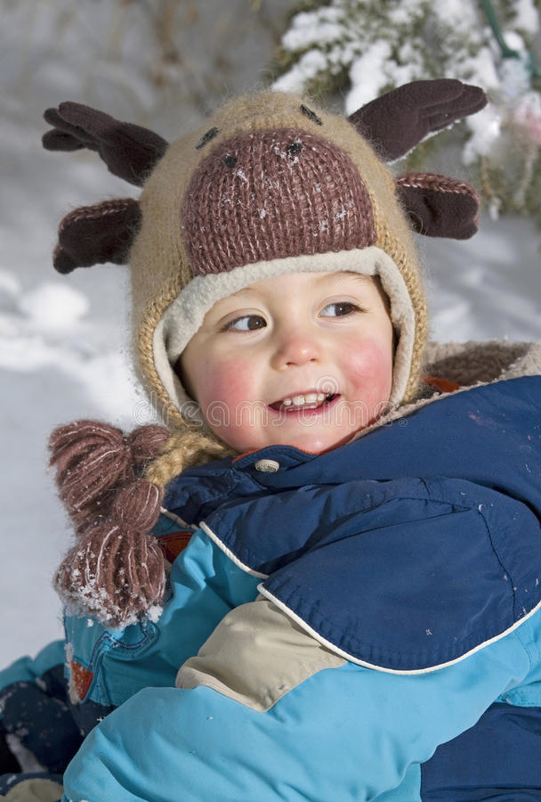 Download Joy during winter stock image. Image of snow, tuque, smile - 22665323