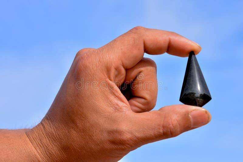 Joya semi preciosa de la piedra de la roca fotos de archivo libres de regalías