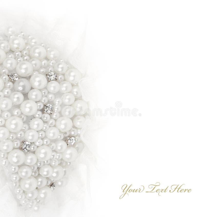 Joyería de la perla de las decoraciones fotos de archivo libres de regalías