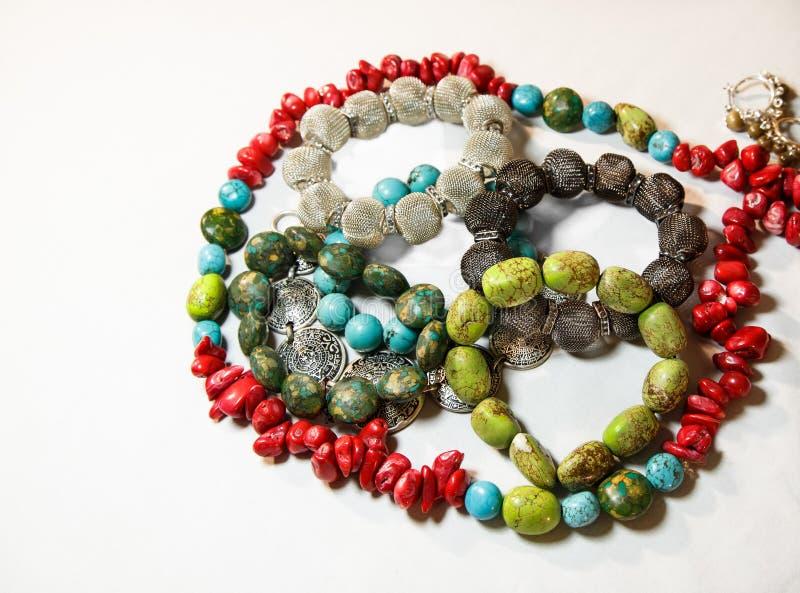 Joyería de piedra del color imagen de archivo