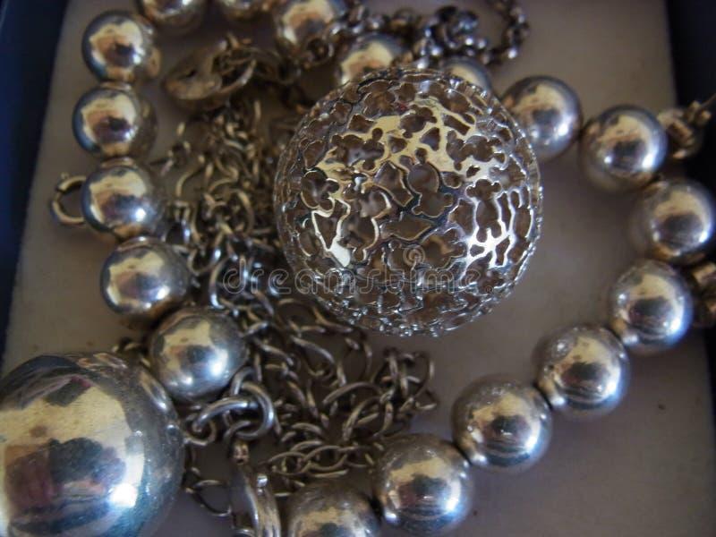 Joyería de plata fotografía de archivo libre de regalías