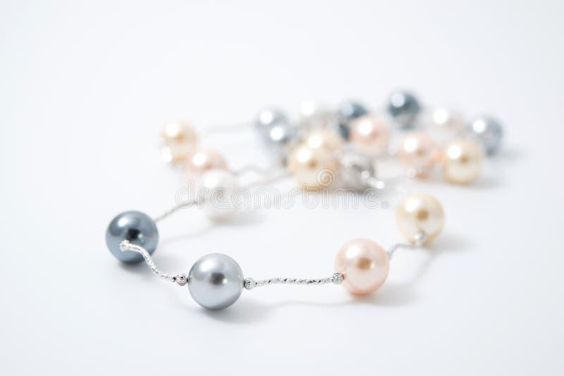 Joyería del collar de la perla fotografía de archivo