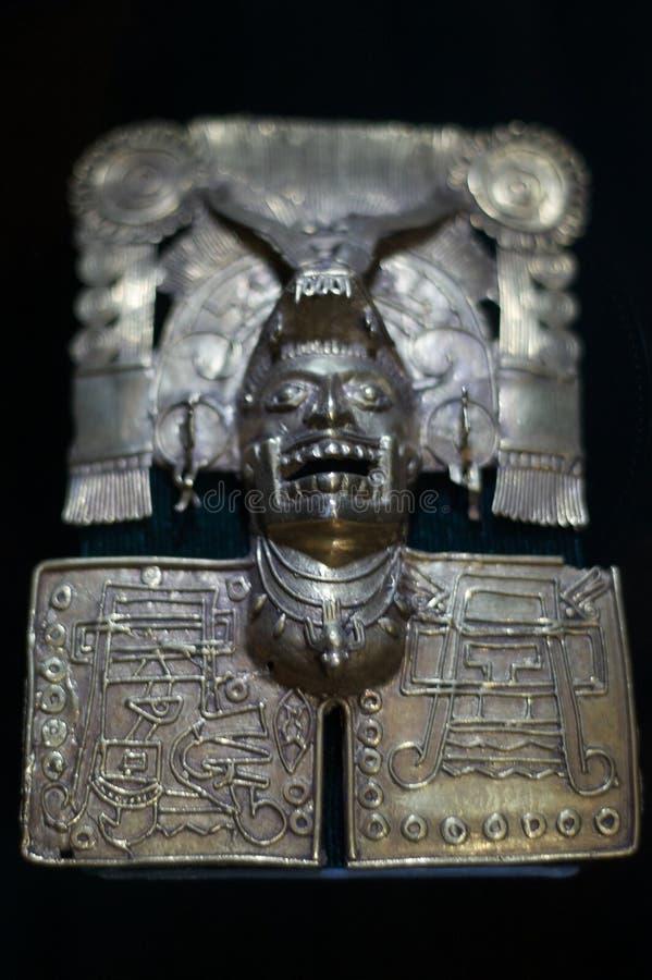 Joyería del zapotec del museo del monasterio de México Oaxaca Santo Domingo fotos de archivo libres de regalías