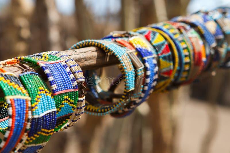 Joyería tradicional del Masai imágenes de archivo libres de regalías