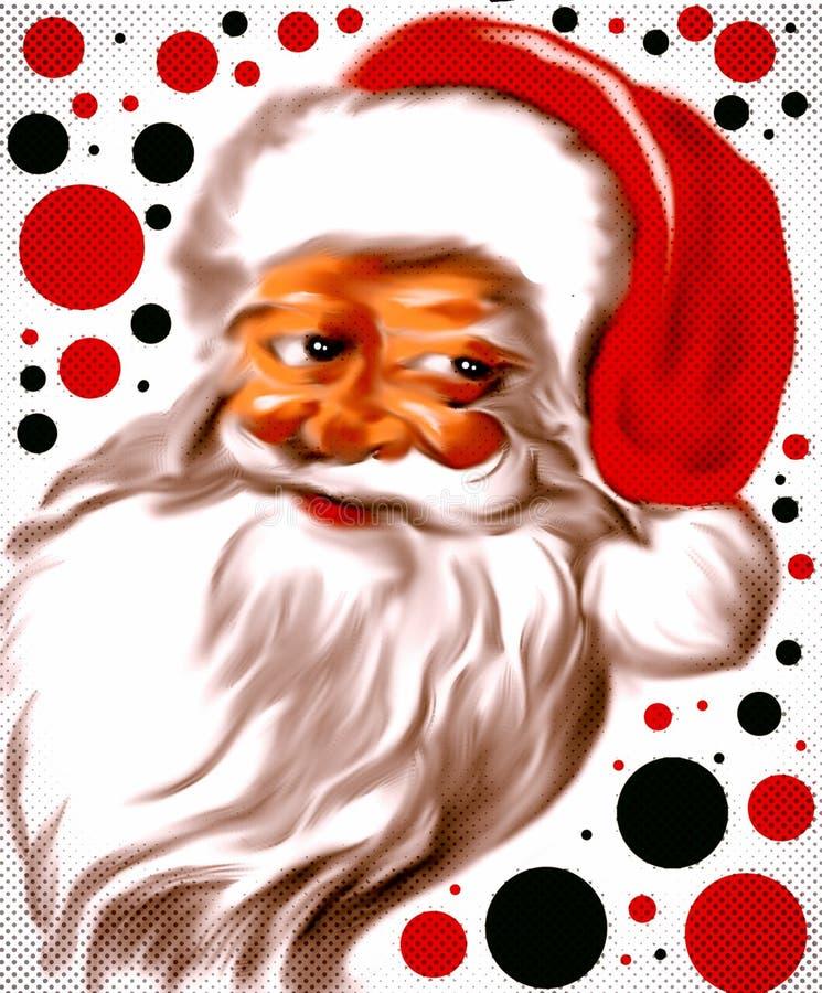 Joyeuse et colorée Santa Claus illustration libre de droits