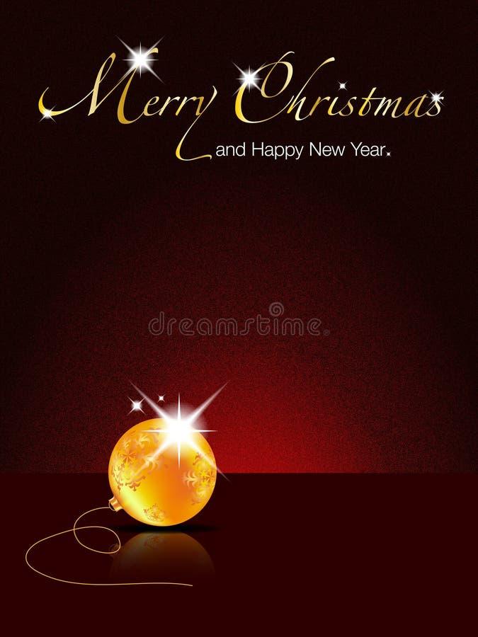 Joyeuse illustration Noël-Heureuse d'an neuf illustration stock