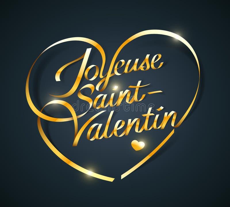 Joyeuse Saint-Valentin. French translation of Happy Valentine's Day vector illustration
