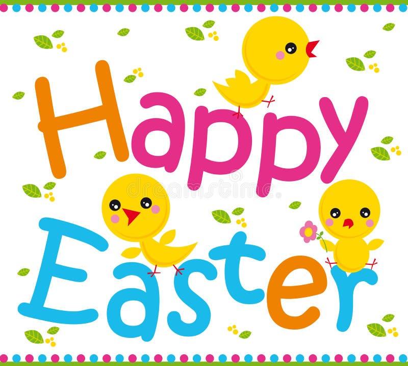 Joyeuses Pâques illustration libre de droits