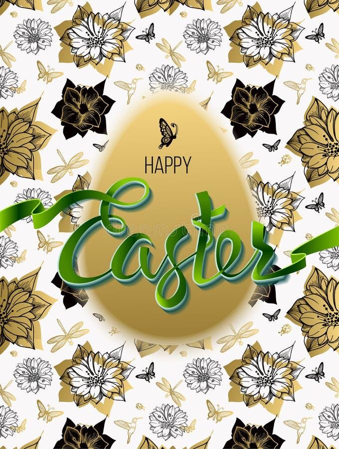 Joyeuses Pâques affiche illustration de vecteur