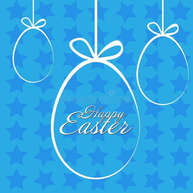 Joyeuses Pâques avec l'étoile illustration stock