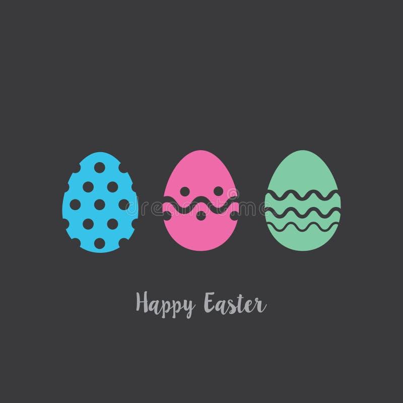 Joyeuses Pâques carte Bunny Eggs images stock
