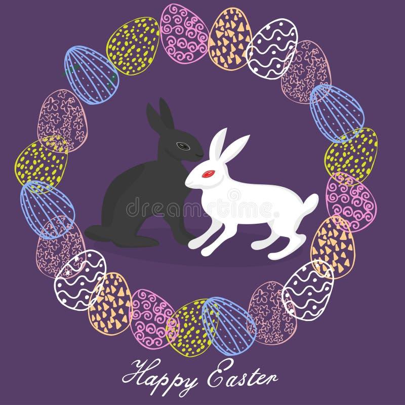 Joyeuses Pâques Carte de voeux images stock