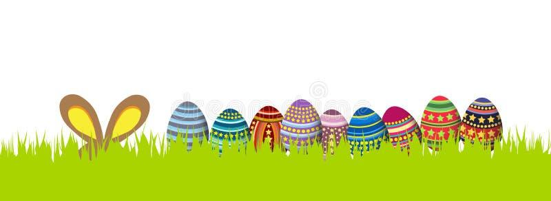Joyeuses Pâques Drapeau de source illustration libre de droits