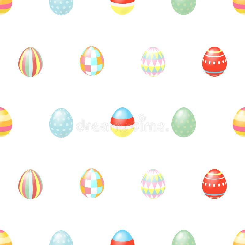 Joyeuses Pâques Les vacances heureuses eggs le modèle, fond sans couture pour votre design de carte de salutation Oeufs de pâques illustration libre de droits