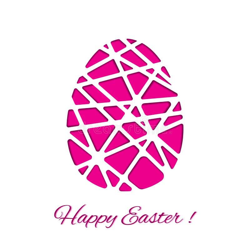 Joyeuses Pâques ont décoré l'oeuf de papier, conception de vecteur photo libre de droits