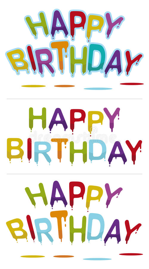 Joyeux anniversaire illustration stock