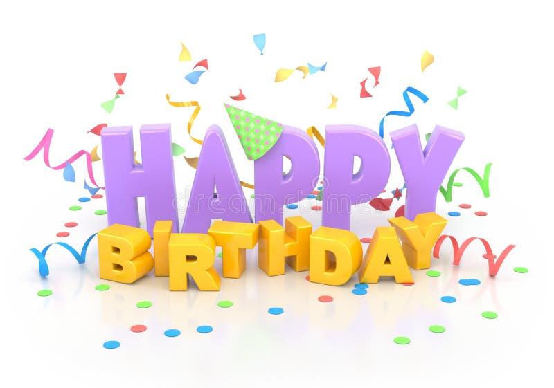 Joyeux anniversaire. illustration libre de droits