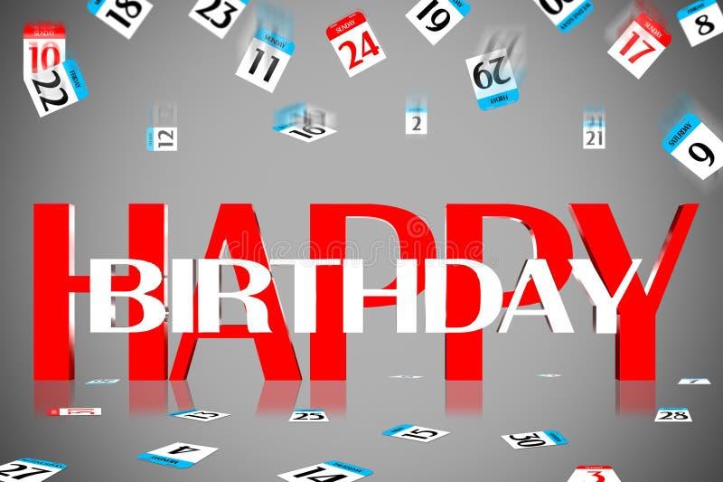 joyeux anniversaire 3D illustration libre de droits