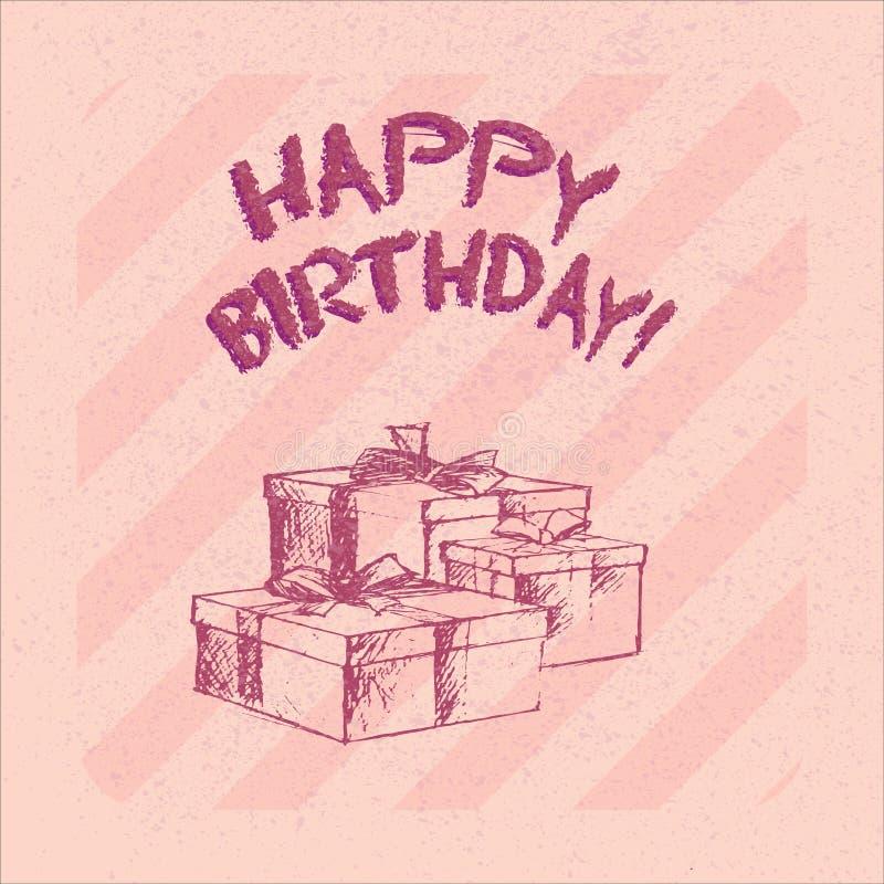 Joyeux anniversaire 11 illustration de vecteur