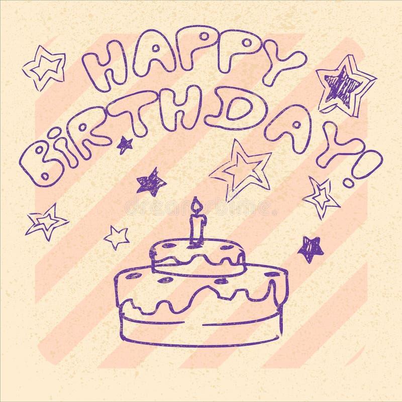 Joyeux anniversaire 16 illustration de vecteur