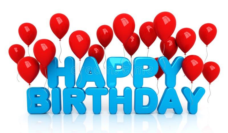 Joyeux anniversaire avec des ballons illustration de vecteur