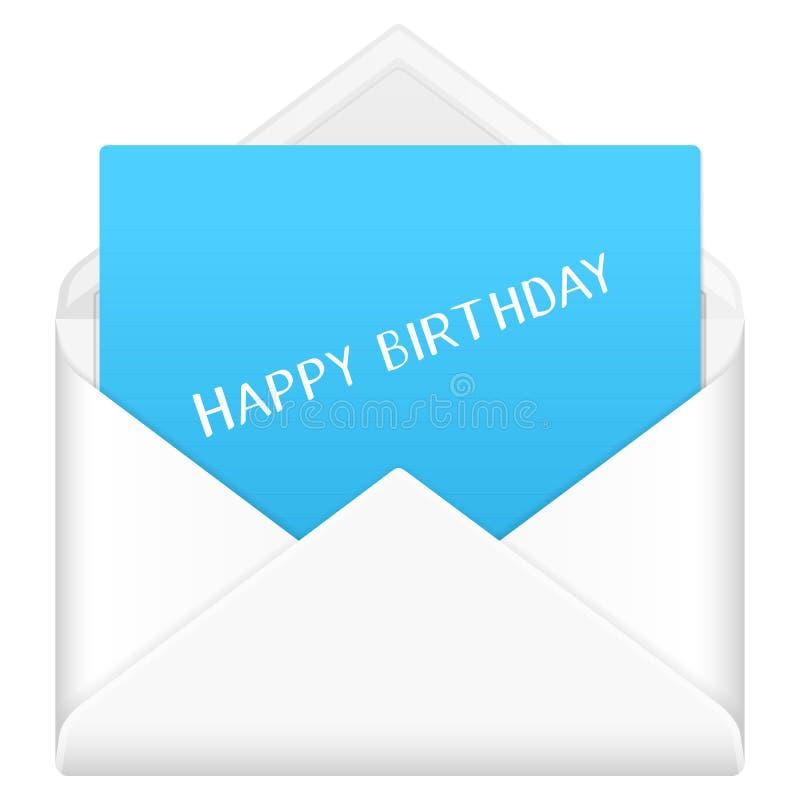 Joyeux anniversaire d'enveloppe illustration libre de droits