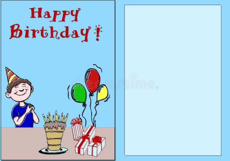Joyeux anniversaire de carte illustration de vecteur
