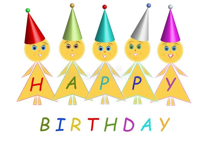 Joyeux anniversaire, enfants illustration de vecteur